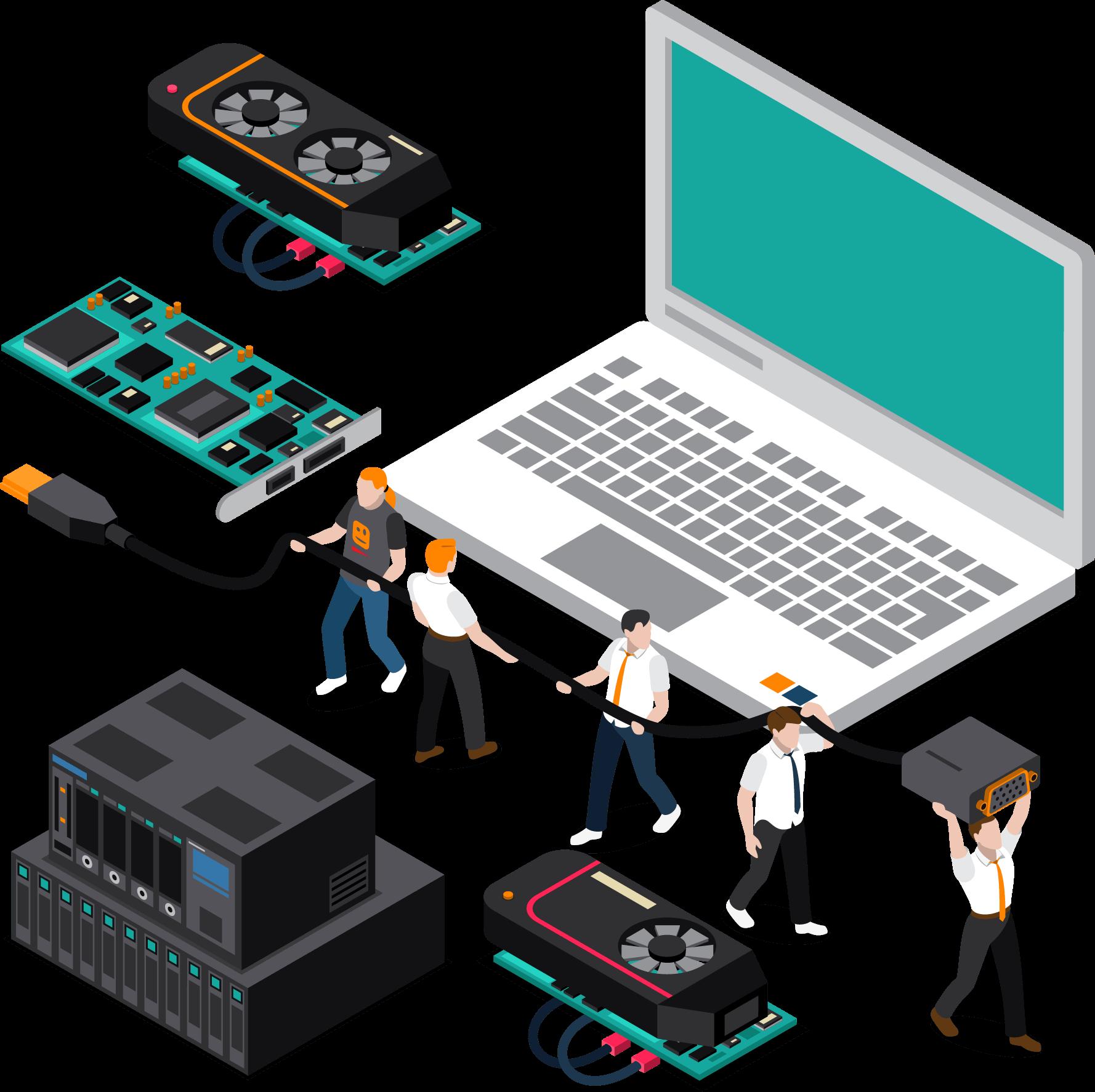 تجهیزات جانبی رایانه، سرور و شبکه